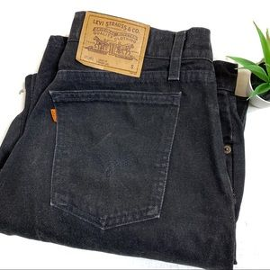 Levi's 960 Vintage Orange Tab Black Jeans